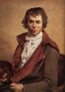 Selvportrett, malt i fangenskap i palasset i Luxembourghagen 1794.
