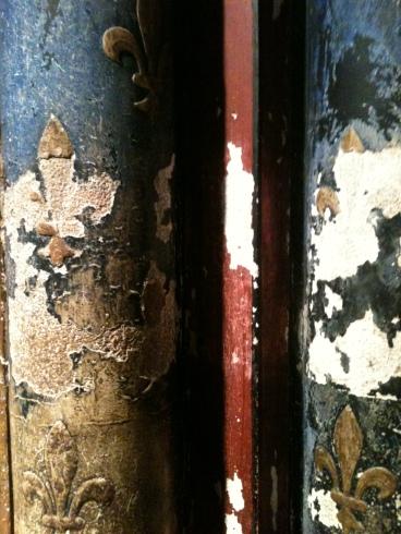 Detalj fra vegg i Sainte-Chapelle i Paris