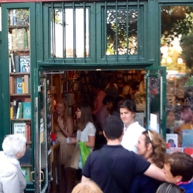 På Shakespeare and Company i Paris